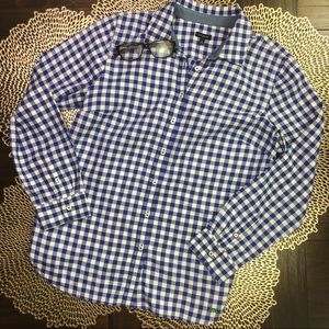Talbots Gingham Long Sleeved Button-Up